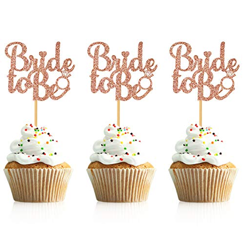 Donoter 36 Pcs Glitter Bride to Be Cupcake Toppers Bridal Shower Bachelorette Party Table Decorations