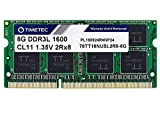 Timetec Hynix IC 8GB DDR3L / DDR3 1600MHz PC3-12800S / PC3L-12800S Non-ECC Unbuffered 1.35V / 1.5V CL11 2Rx8 Dual Rank 204 Pin SODIMM Laptop Notebook Computer Memory RAM Module Upgrade (8GB)