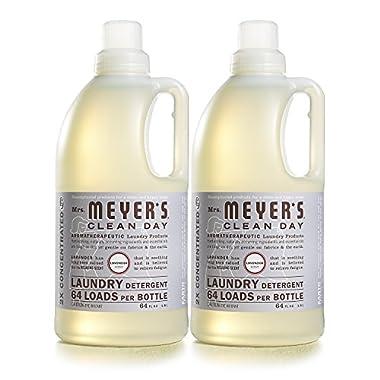 Mrs. Meyer's Clean Day Laundry Detergent, Lavender, 64 fl oz, 2 ct