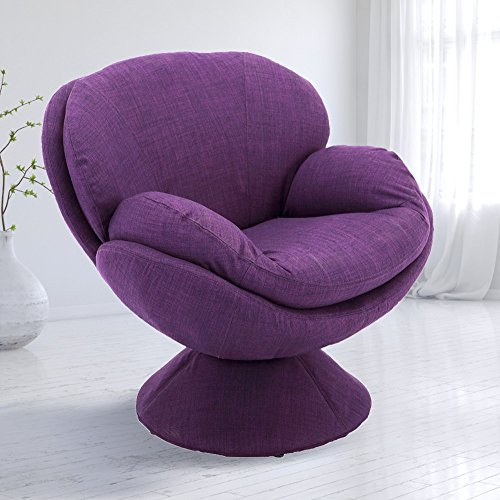 Comfort Chair Mac Motion Purple Pub Leisure Accent Chair Fabric, One Size