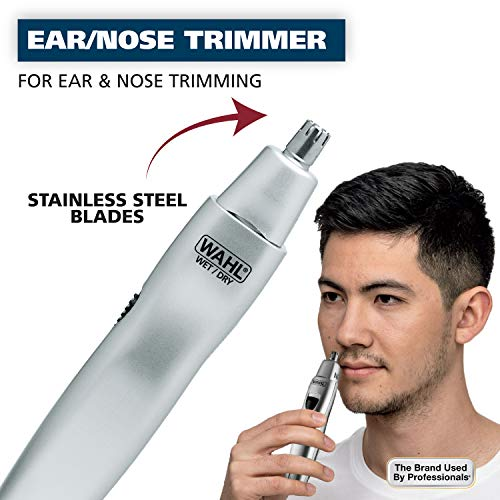 Wahl Ear, Nose, & Brow Trimmer Clipper – Painless Eyebrow & Facial Hair...