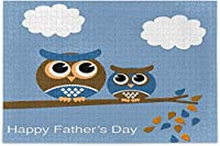幸せな父の日フクロウ鳥ジグソーパズルレジャークリエイティブゲーム大人のための500個子供ギフト-ミディアム