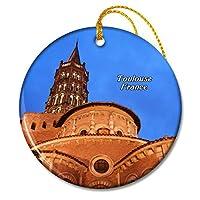 聖セルニントゥールーズのフランス大聖堂クリスマスオーナメントセラミックシート旅行お土産ギフト