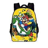 REYOK Mochilas Super Mario Mochila escolar para niños Mochila escolar Mario Mochila escolar de...