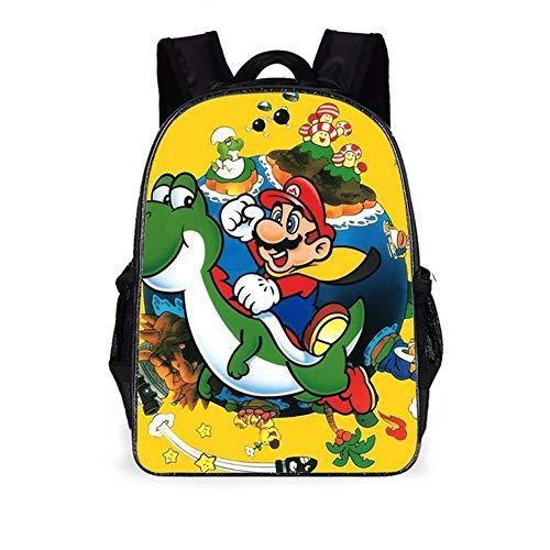 REYOK Mochilas Super Mario escolar para niños de dibujos