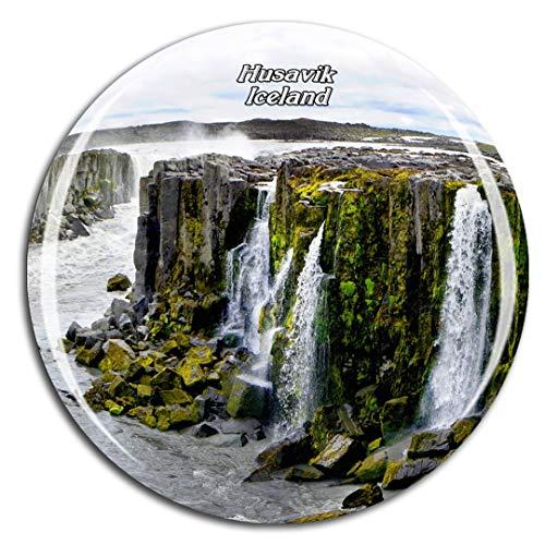 Weekino Islandia Selfoss Cascada Husavik Imán de Nevera 3D de Cristal de...