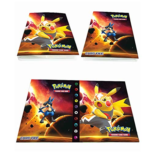 Album für Pokemon Karten, Pokemon Karten GX EX Trainer Kartenbuch, Sammelkartenalben, 30 Seiten - Platz für bis zu 240 Karten (Großer Film PIKAQIU)