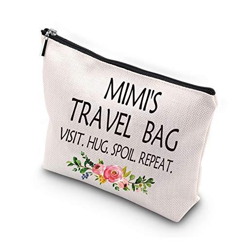 WCGXKO Mimi Gift Mimi Mother's Day Gift Grandma Birthday Gift Travel Gift Cosmetics Bag
