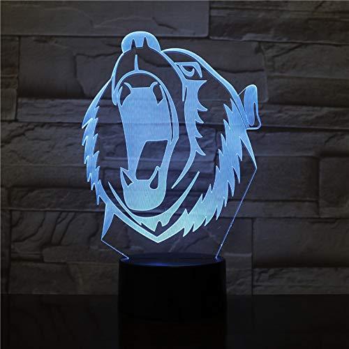 3D Tischlampe Kids Toy Gift-2191 Woes heulen LED Acryl Nachtlicht mit Fernbedienung Illusion Home Decoration Nachtlicht