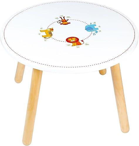moda clasica Tidlo Wood Safari - Mesa Infantil Infantil Infantil (60 x 43 cm), Diseño de Animales  salida de fábrica