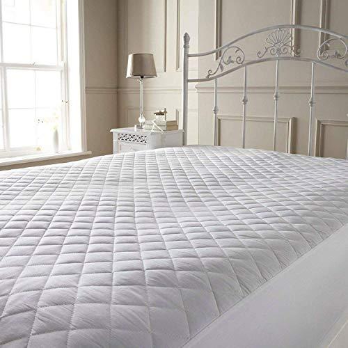 Matratzenschoner, wasserdicht, für Einzelbetten, Doppelbetten, extra große und kleine Doppelbetten, Etagenbetten, 122cm, weiß, Einzelbett