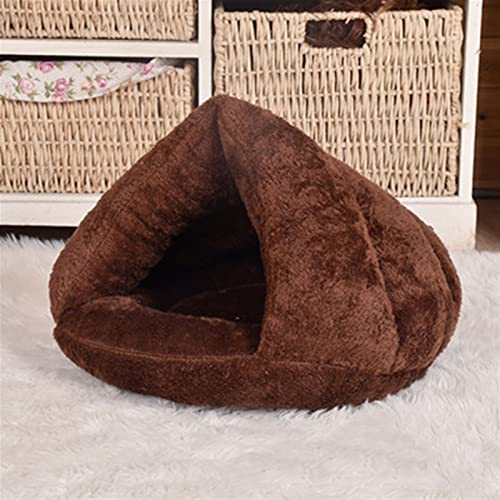 QWEQWE Grueso Triangular Copa de Gato Invierno cálido Mascota Perrera herbiz de Perrera Grueso Saco de Dormir Tienda de Dormir Perros Mascota Cama Suave Estera cojín Nido casa casa