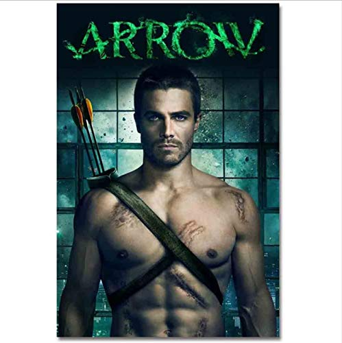 yhnjikl Taawaa Arrow Art Silk TV Series Movie Poster y Print Wall Picture For Living Room Decoration 40X60Cm Sin Marco