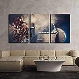wall26 - Filmmaking Concept Scene - Canvas Art Wall Art - 24'x36'x3 Panels