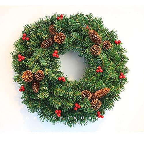 NICETOW Pendurado na Parede da Porta da grinalda de Natal de Pinecone, vitrine, decorações criativas de feriado, 40/50/60/80 cm (Tamanho: 40 cm)