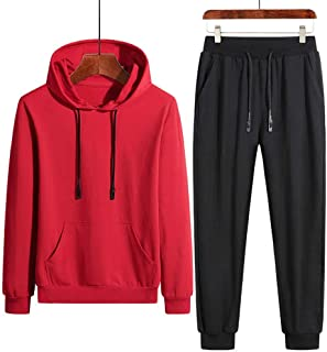 Men's Track Suits Sportswear Track and Field Clothing Jackets Gym Jogging Jogger Sportswear Jacket Pants,Red,5XL