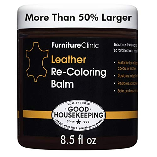 Furniture Clinic Leather Recoloring Balm - Leather Color Restorer for Furniture, Repair Leather...