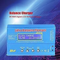 RCバッテリー充電器、B6 80WデジタルLCDバランス充電器および放電器、Li-Po/Li-ion/Li-Fe/NiMH/NiCd/Pbバッテリーの並列充電用(#1)