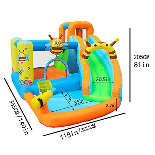 Fantastic Deal! MYGIRLE Garden Inflatable Water Park for Toddlers Outdoor Backyard Lawn Kids Inflata...