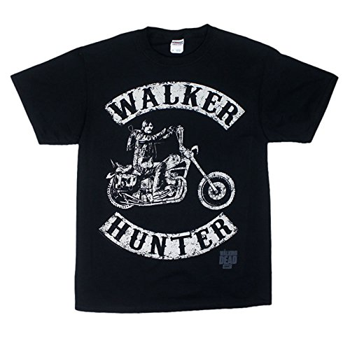 The Walking Dead - T-shirt Homme Walkers Hunter - Noir (Black) - Small