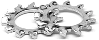 #8 x 0.381 OD 410 Stainless Steel Plain Finish External Tooth Lock Washers 100 pk.