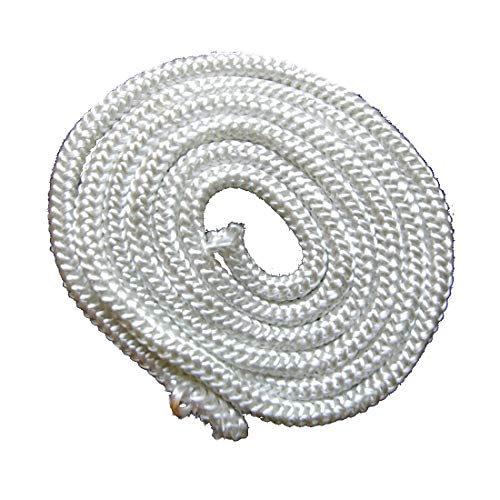 Ofendichtung Ofentürdichtung 2 Meter 10mm Dichtschnur weiss Fiberglas Brandschutzdichtung Kordel