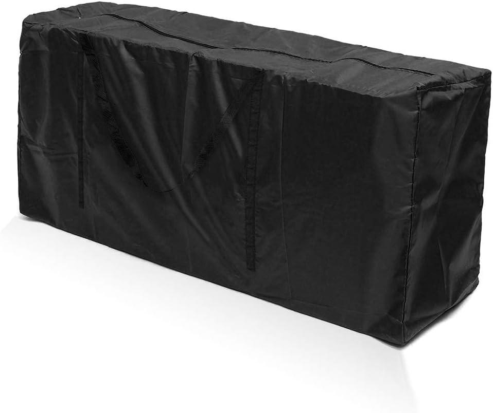 harupink Funda para cojines de decoración exterior, 210D Oxford bolsa de jardín impermeable mango robusto diseño con cremallera para cojines para sillas, ropa (negro 173 x 76 x 51 cm)