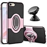 eSamcore iPhone 6S Plus Case, iPhone 6 Plus Case Ring Holder Kickstand Cases + Magnetic Phone Car Mount for Apple iPhone 6 6S Plus 5.5 Inch [Rose Gold]