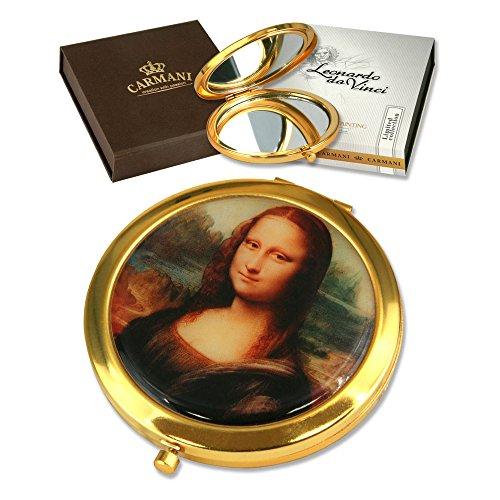 CARMANI - Miroir plaqué Or avec Monet L. Da Vinci de Peinture