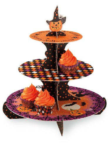 Penelope's Parties Heavy-Weight Paper Cupcake Stand, Haunted Halloween