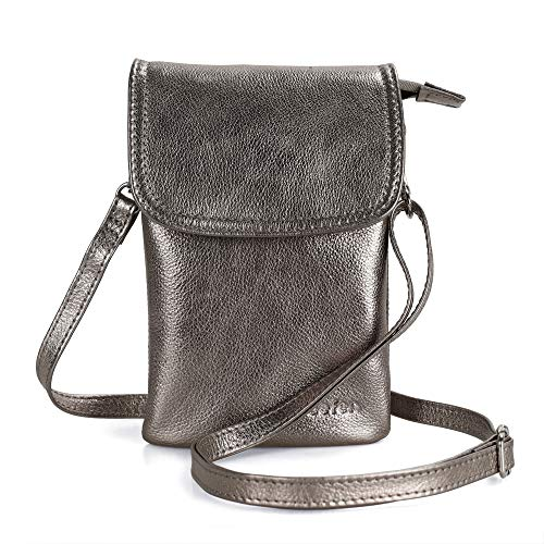 1. befen Leather Crossbody Cell Phone Purse: This minimalist bag is classic that'll never go out of style! It's triple pocket design means you have ample space and it's the perfect choice to go hands-free! Crafted in natural pattern yak leather, fabr...