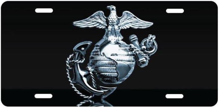 panda USMC Marines San Diego Mall Logo License license Max 66% OFF frame custom Plate Metal