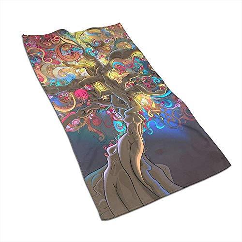 Snbin Magical Psychedelic Trippy Microfiber Toallas de Mano Toallas Toallas de Secado rápido Toallas Deportivas (40x70cm)