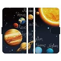 Ruuu AQUOS sense4 lite SH-RM15 手帳型 スマートフォン スマホ ケース カバー 宇宙 太陽系 Type-B 幻想的 天体 コスモ ギャラクシー 宇宙柄 惑星 星 地球