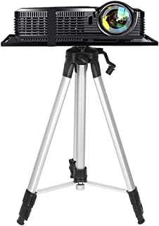 Moutik Tripod Projector Stand Aluminum Projector Floor Stand Adjustable Laptop Stand Height Adjustable from 21'' to 54'' w...