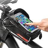 OhhGo Bolsa de marco delantero impermeable para bicicleta con pantalla táctil y marco superior para bicicleta con 6 pulgadas