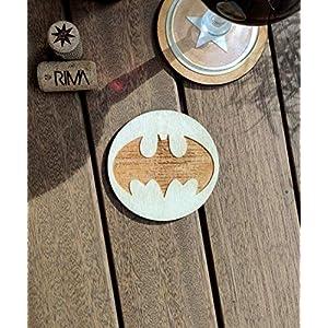 Batman Untersetzer – Holz – Marvel vs DC Superheld