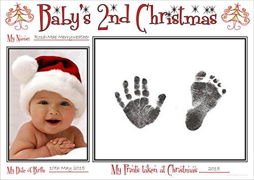 BabyRice Kit empreintes de mains et empreintes de pieds pour bébé 2 ans