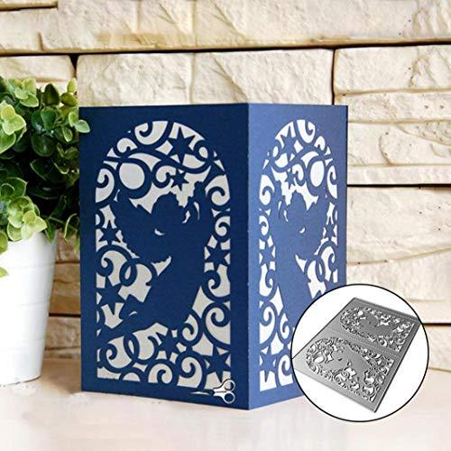 Plantillas de metal para troquelar, diseño de ángel de Navidad, para hacer tarjetas, manualidades, álbumes de recortes, tarjetas de papel, decoración