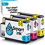 Smart Ink Reemplazo Compatible del Cartucho de Tinta HP 932XL 933XL 932 XL 933 XL High Yield 3 Pack (C/M/Y) Cartuchos para HP Officejet 6600 6100 6700 7110 7610 7612 Impresoras