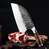 Cuchillo de Cocina de Acero Inoxidable Cuchillo Cocinero Forjado Hecho a Mano de Sharp Cleaver Ancha Vegetales Cuchilla Profesional Cuchillo de Carnicero Cuchillos Afilado