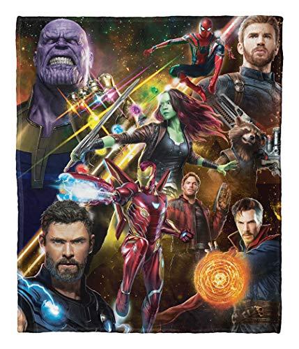 "Northwest The Avengers Infinity War Team Infinity Silk Touch Throw Blanket, 50"" x 60"""