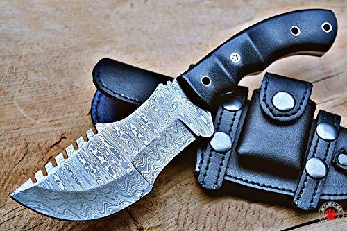 Bobcat Knives Custom Handmade Tracker Knife with Leather Sheath Overall 10'' Fully Funcational