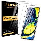 [3 PACK] UniqueMe Protector de Pantalla para Samsung Galaxy A80 / A90, Vidrio Templado [ 9H Dureza ] [Sin Burbujas] HD Film Cristal Templado con Garantía de Reemplazo de por Vida