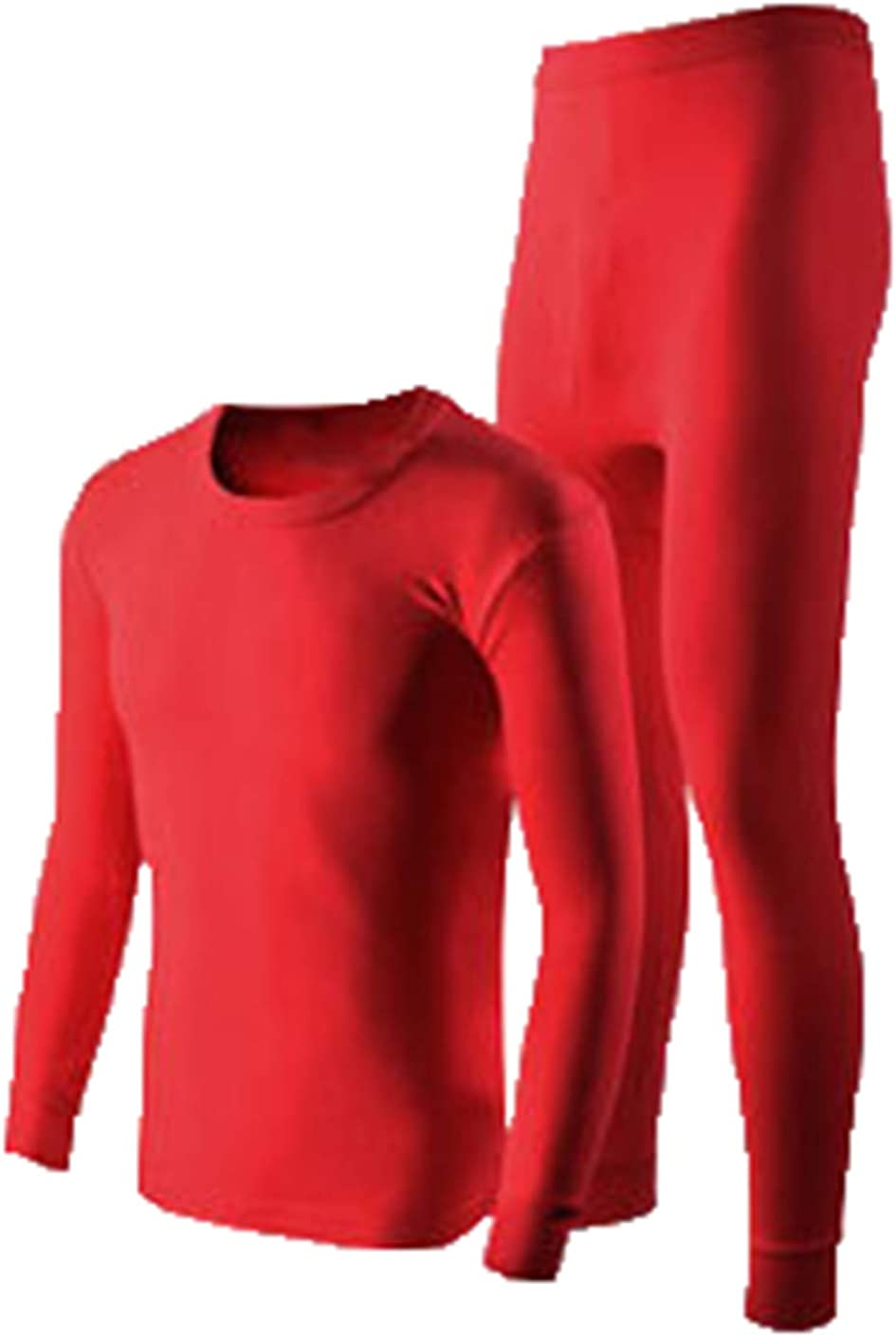 Seaoeey Men's Large Size Thermal Underwear Set Autumn Winter Warm Thermal Top and Bottom Two Piece