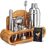 Mixology Bartender Kit With Stand - 19 Piece Bar Set Cocktail Shaker Set, Drink Mixer Set For Home Bar With All Bar Accessories - Bar Tool Set, Cocktail Kit, Mixology Set, Bar Kit.