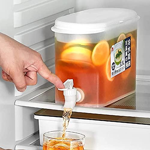 Dispensador de agua con grifo 3.5L refrigerador de frutas té hervidor frío, reutilizable de agua de hielo cerveza cubo frío