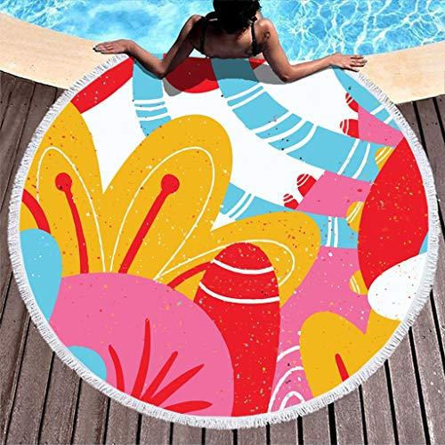 Dogedou 150cm strandhanddoek cactus rond tafelkleed doek meditatie chiffon zwembad handdoek