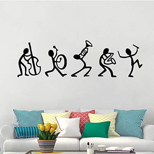 Kjlfow Música Vinilo Pared Pegatina Arte guardería decoración Mural calcomanía 57x18cm