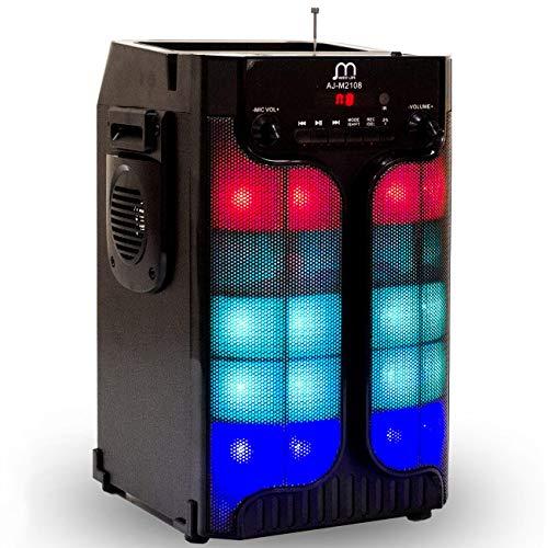 Music Life Altavoz Karaoke Bluetooth Portátil Inlámbrico USB Tarjeta TF Recargable con Radio FM (316-1)